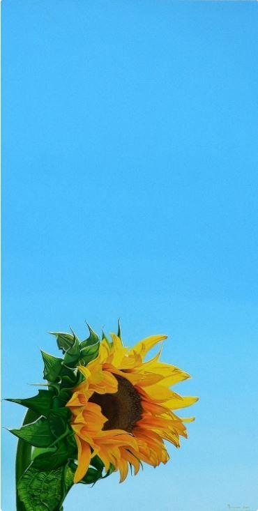 Sunflower I: Oil on Canvas by Melanie Ferguson #fineart #ianart #painting #art #artonfire http://internationalartnetwork.com/products/SunflowerI.html