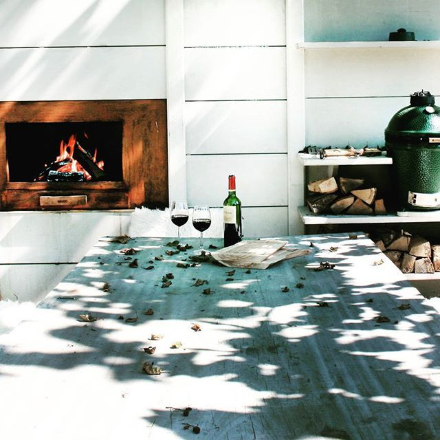 Even if the temperature is dropping day by day in Holland, outdoor cooking can still be lovely with the #WWOO outdoor fireplace.  by Piet-Jan van den Kommer | www.vandenkommer.nl & www.wwoo.nl