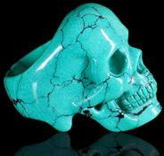 Skull Rings: Carved from Gemstones & Crystals, Jewelry for Men & Women