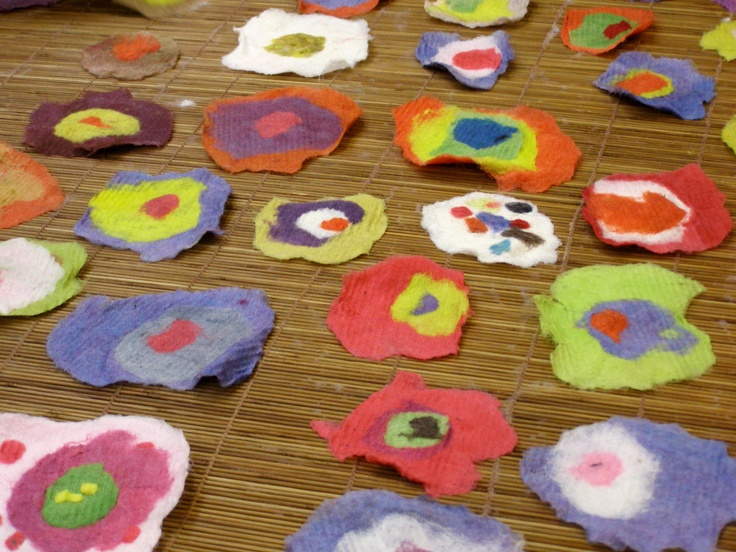 Wool Embellishments created during a 2010 wet-felting residency with Tracey Kuffner.