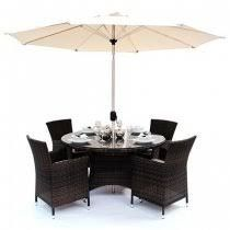 a popular rounded 4 seater rattan set you can also buy chairs separately for this set leave this set out all year round and you do not have to worry about