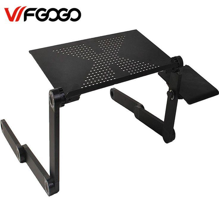 WFGOGO Computer Desks Portable Adjustable Foldable Laptop Notebook Lap PC Folding Desk Table Vented Stand Bed Tray
