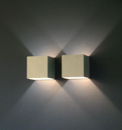 knappe wandverlichting met dubbel effect