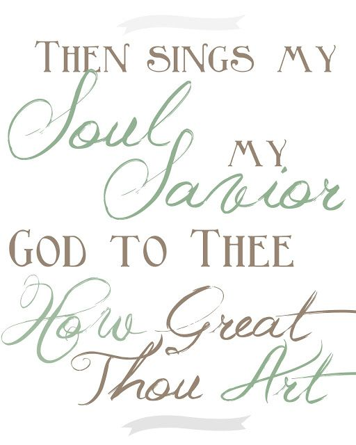 I love this.  I can still hear my grandmother singing it beside me in The church pew.