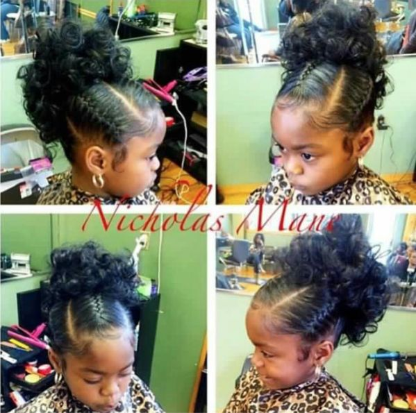 Pleasing 1000 Ideas About Black Kids Hairstyles On Pinterest Kid Hairstyles For Women Draintrainus