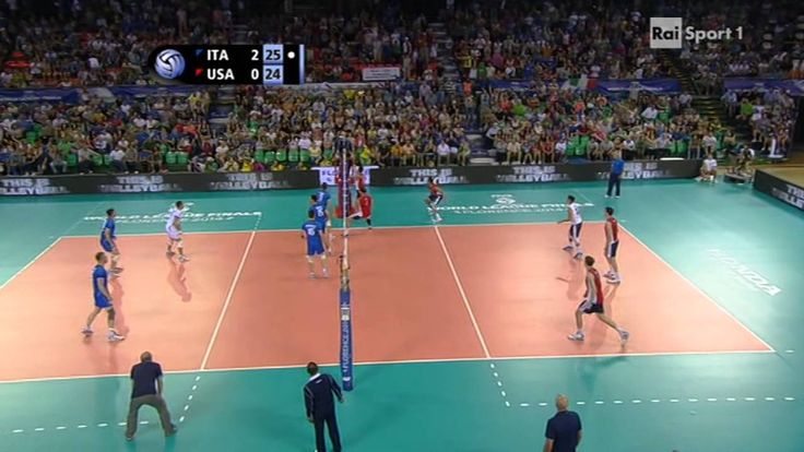 [Volleyball] Ivan Zaytsev of Italy kills USA with 4 aces in a row #quatt...
