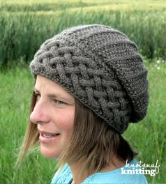 Song of peace is a popular knitting pattern for a knit hat! This seamless hat features a beautiful cable brim. This knitted hat pattern comes in sizes kids through to adults. Click through to get your copy of the pattern!