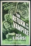 The Return of the Vampire, US one-sheet, 1948 re-release.