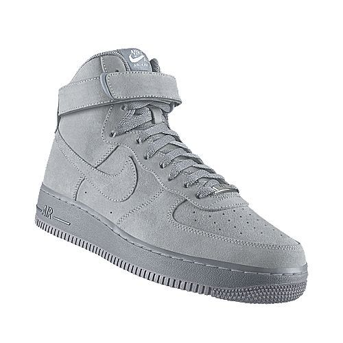 I designed this at NIKEiD - Nike Air Force 1 High Premium iD (Gray Suede