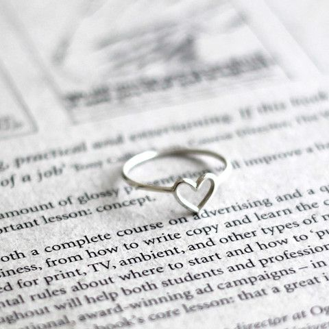 I love this simple ring! So sweet!