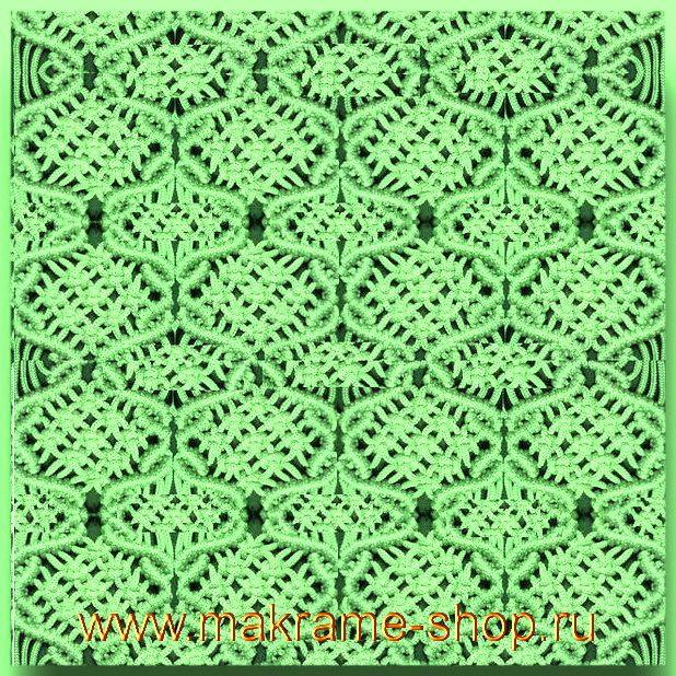 Зеленый узор макраме.