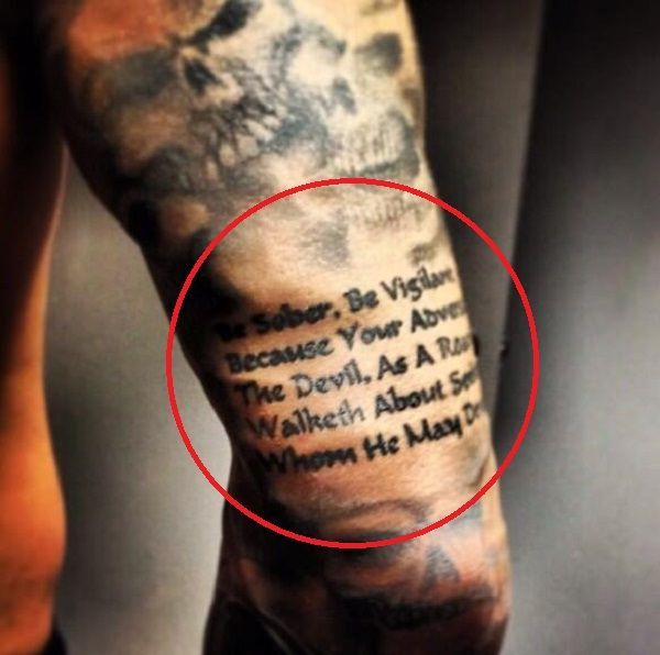 Randy Orton S 11 Tattoos Their Meanings Body Art Guru In 2020 Randy Orton Randy Orton Tattoo Tattoos With Meaning