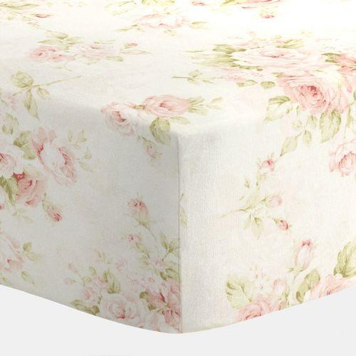 Pink Floral Crib Sheets | Carousel Designs