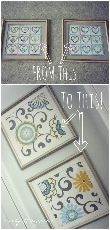 how to make fabric wall art via housebyhoff.com