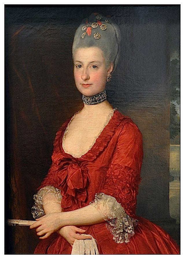 1766 Erzherzogin Maria Christine by Marcello Bacciarelli (Kunsthistorisches Museum, Wien Austria) - this looks like it might be a robe a la polonaise