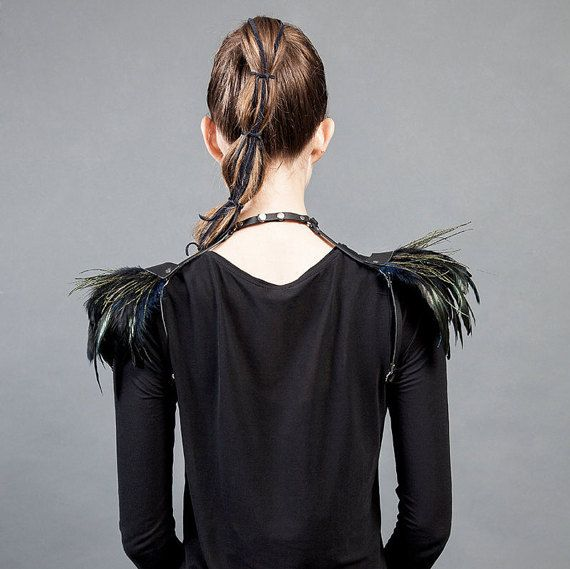 Feather shoulders Burning man