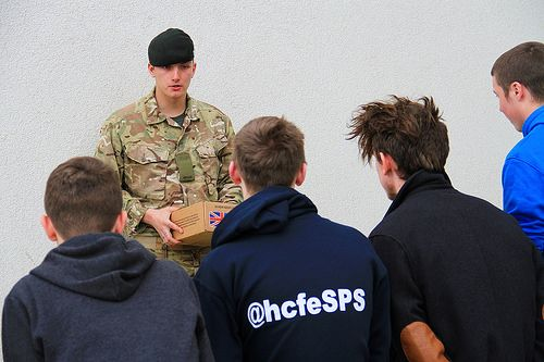 Students on Hartlepool College's Public Services course were given a literal taste of Army life on March 6th when soldiers from the King's Rifles visited the College. The riflemen demonstrated a variety of aspects of their daily work, including fitness, nutrition and the challenges of maintaining energy in such a demanding and high-mobility role.  READ MORE >> http://www.hartlepoolfe.ac.uk/armyfood/