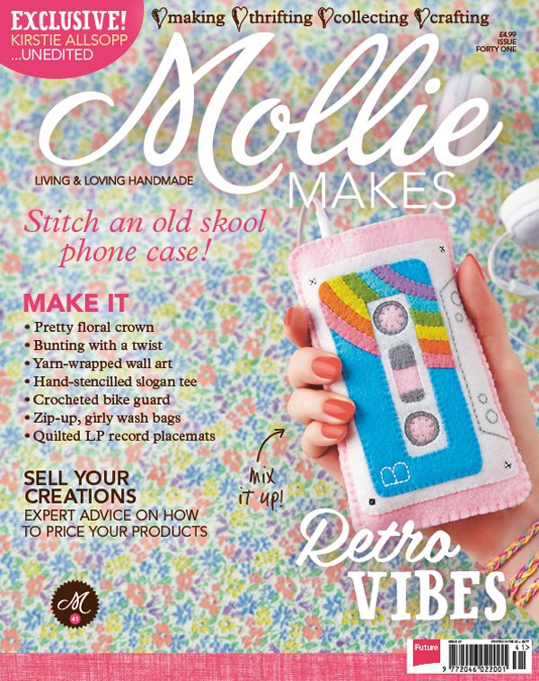 Your project templates for Mollie Makes issue 41 are ready to download