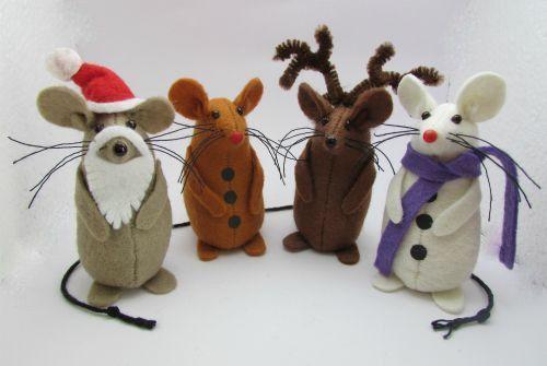 Christmas Mice Felt Mouse Felt Mice Mouse by AllThingsMice