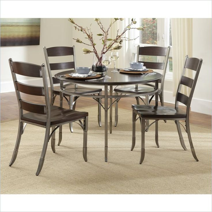 home styles bordeaux 5 piece dining set in birch - Kitchen Table And Chair Sets