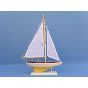 """Royal Dark Blue Sunset Sailboat 17"""" Model Sailboat - Already Built Not a Kit - Wooden Sail Boat Replica Model Sailing Yacht Racer Nautical Home Beach Wall Décor or Gift (Toy)  http://www.howtogetfaster.co.uk/jenks.php?p=B0033E9CU4  B0033E9CU4"""