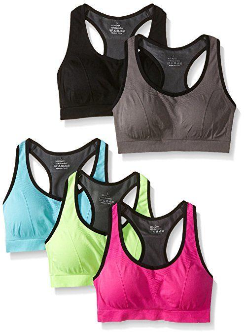 449a3f75bc Mirity Women Racerback Sports Bras - High Impact Workout Gym Activewear Bra