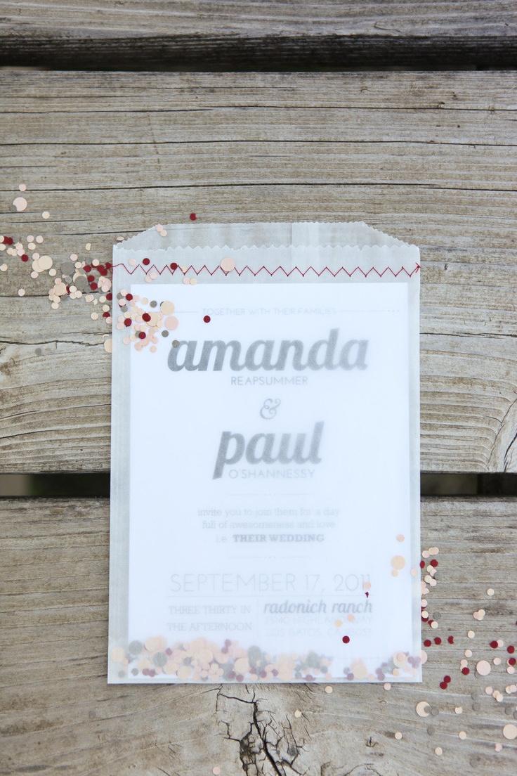 Confetti invitation @Ashley Walters Walters Walters
