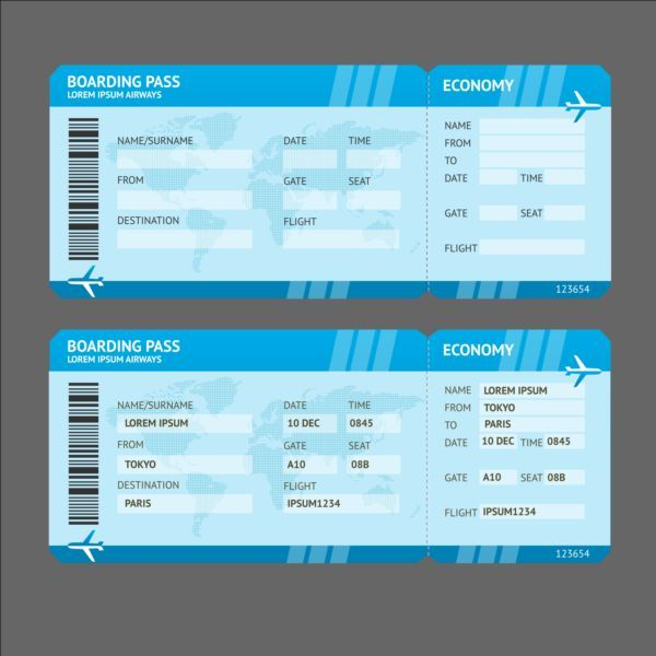 7 best airline ticket template images on Pinterest Air flight - airplane ticket template