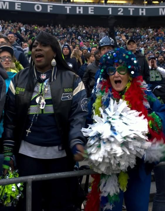 Seahawks vs Rams: 12th MAN - Mom Sherman and Mama blue.  Two lovely ladies.