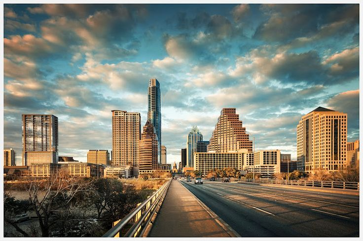 Skyline from south of the river, Austin, Texas