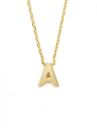 gold initial letter pendant / baublebar