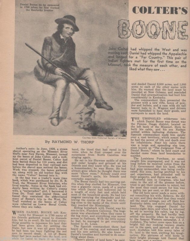 """Daniel Boone - """"Colter's Boone"""" by Thorp + Yellowstone"""