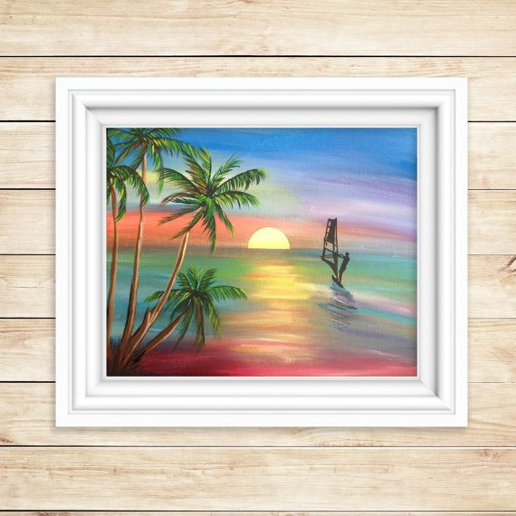 Wall Decor From Ross : Ideas about sunset paintings on