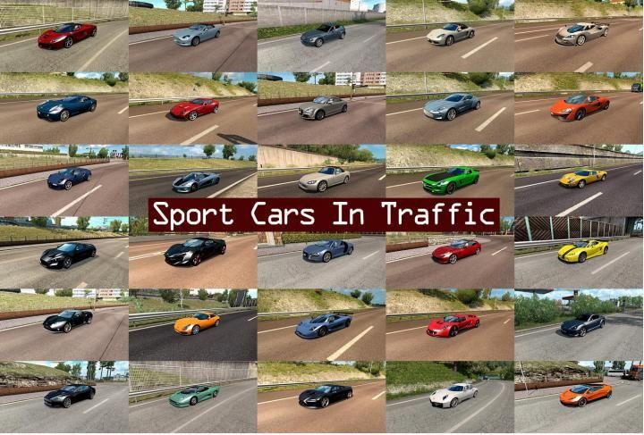 ETS2 - Sport Cars Traffic Pack By Trafficmaniac V3 3 (1 34 x