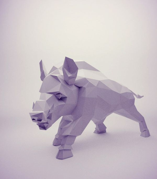 Low-Poly on Behance