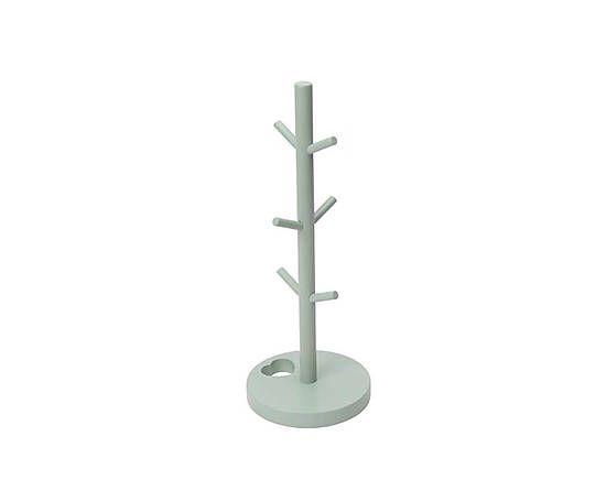 Вешалка для кружек - дерево - серый - Ø5