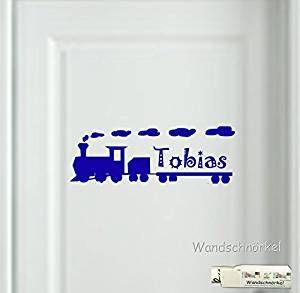 Amazing Wandtattoo Aufkleber Eisenbahn mit dem Namen Ihrer Kindes als T r Wand Schrank Fensteraufkleber