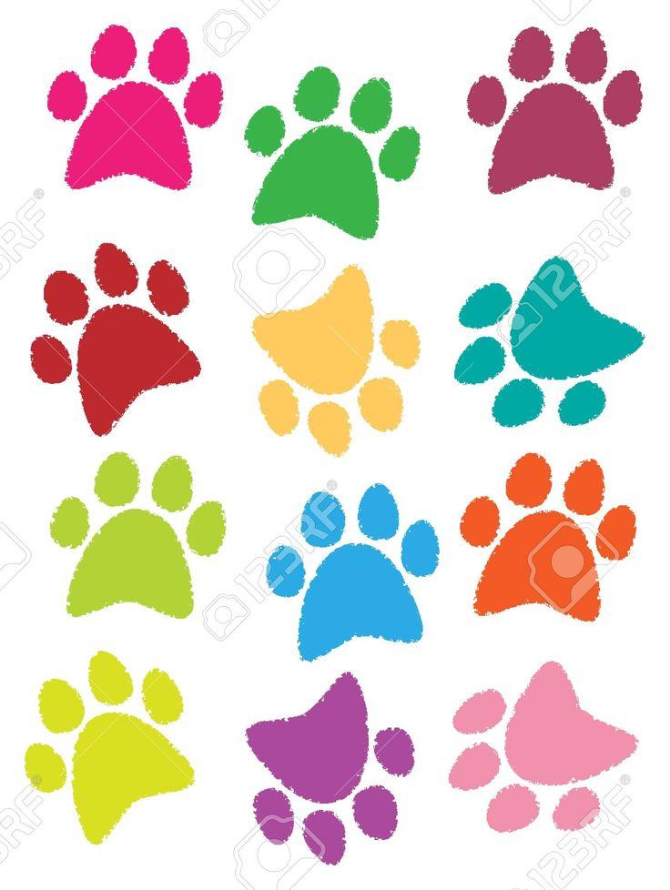 ilustración de las huellas de los perros y los gatos son hermosos