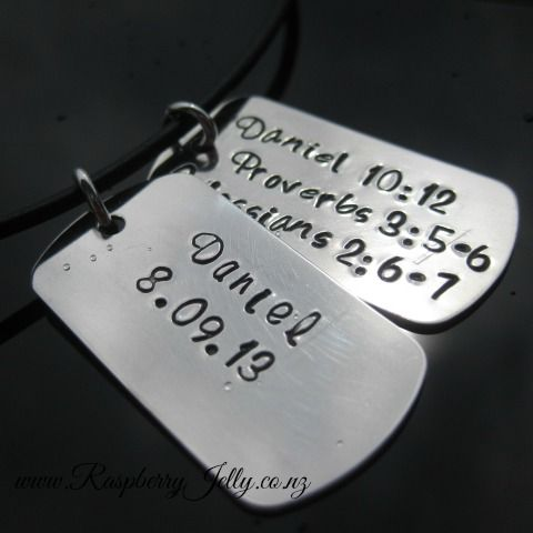 An All Man Pendant, these Dogtags scream Masculinity.
