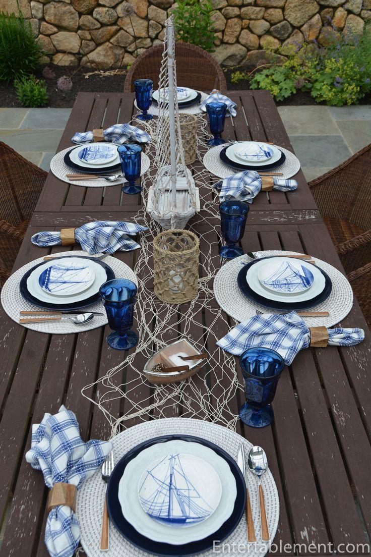 Ship Ahoy Dinning Table Decor Casual Table Nautical Table