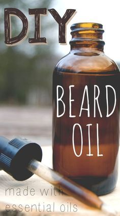 DIY beard oil recipe, made with essential oils. Perfect homemade gift idea for men for Christmas, birthdays, etc!
