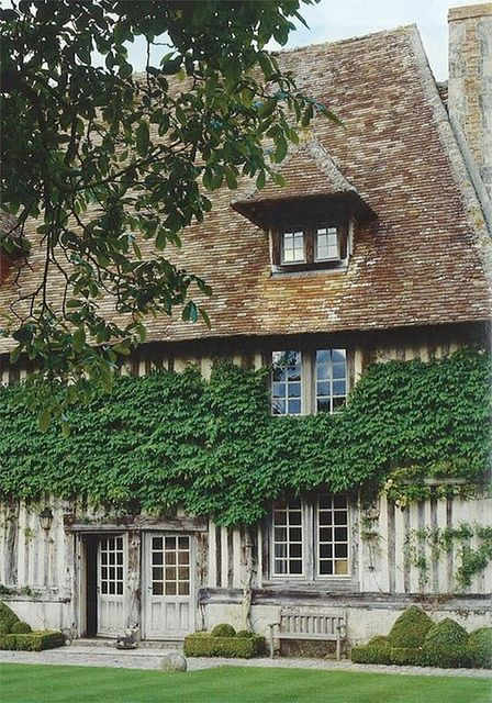 Ivy-covered country house in Normandy