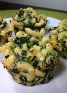 Mac N Cheese w/Spinach Muffins (why not?)