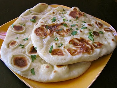 Homemade Naan bread...this could be a terrible thing I have found, it is possible I will make it daily and gain 100 pounds! Lol! I love this stuff!!!