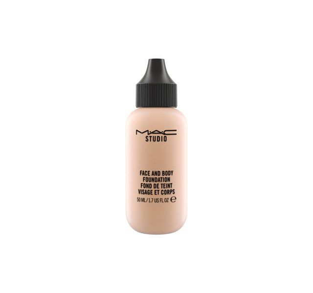 MAC Studio Face and Body Foundation is my favorite! It provides a low-medium coverage in a natural satin finish. The great thing about it is that it's made to build-up, so you can apply a single coat for a natural day-time look, and apply more coats if needed for a night out.