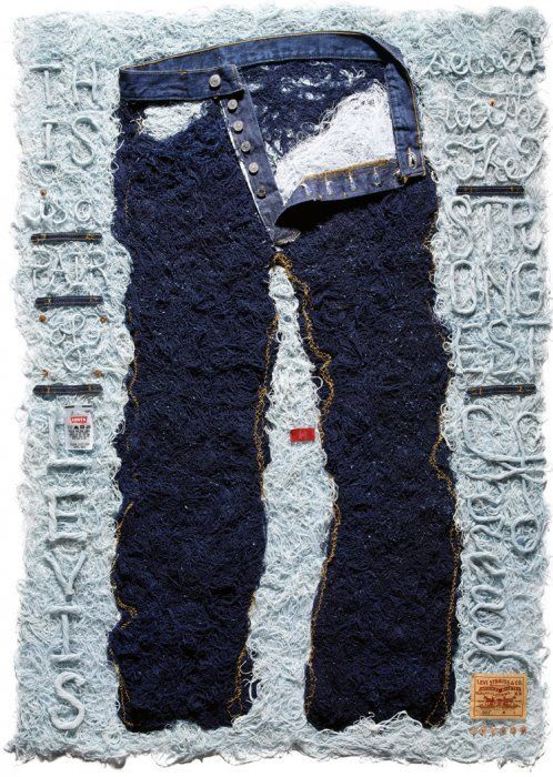 Levis Thread Poster: Stefan Sagmeister