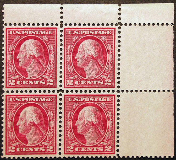 #406 2c Carmine 1912 Error Block of 4 Plate Flaw *MNH* Rare - 20% Off Sale - Visit LittleArtTreasures.com or http://stores.ebay.com/Little-Art-Treasures