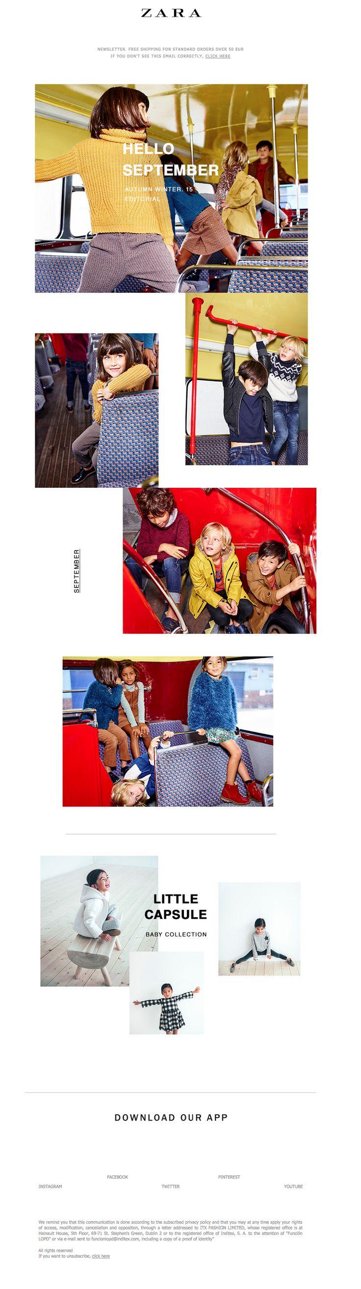 Zara poster design - Zara Newsletter L Hello September Kids Baby