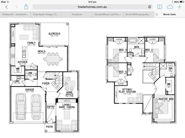 23 best house plans images on pinterest floor plans house two storey plan fowler homes love this best one ive seen monte carlo malvernweather Choice Image