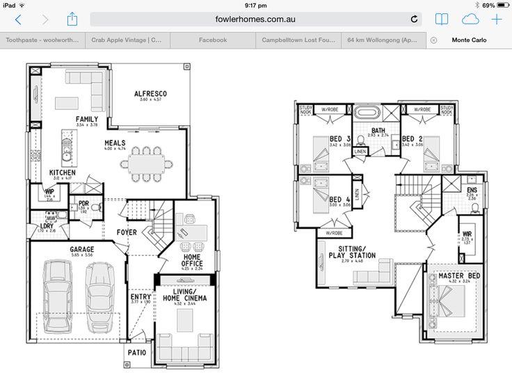 20 best House plans images on Pinterest House blueprints, Floor - best of blueprint detail crossword clue